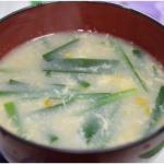 ニラたま味噌汁