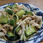 豚しゃぶときゅうりの中華サラダ