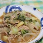 白菜とじゃがいもと豚肉のあっさり味噌煮