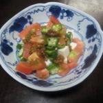 豆腐と夏野菜のひしおあえ