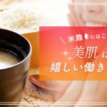 米麹にはこんな効果が!美肌に繋がる嬉しい働きをご紹介!