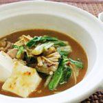 鶏肉と冬野菜のみそすき鍋