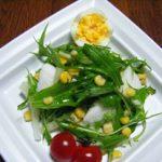 長芋と水菜の伊予柑サラダ