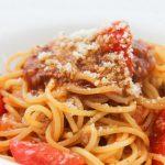 フレッシュトマトのミートソーススパゲティ